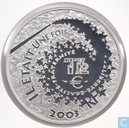 "Frankrijk 1½ euro 2003 (PROOF) ""Alice in Wonderland"""