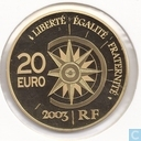 "Frankrijk 20 euro 2003 (PROOF) ""The Normandië"""