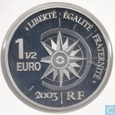 "France 1½ euro 2003 (PROOF) ""Constantinople and orient express"""