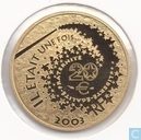 "Frankrijk 20 euro 2003 (PROOF) ""Alice in Wonderland"""