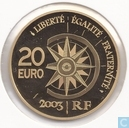 "Frankrijk 20 euro 2003 (PROOF) ""The Orient-Express"""