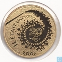 "Frankrijk 20 euro 2003 (PROOF) ""Sleeping Beauty"""