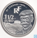 "France 1½ euro 2003 (PROOF) ""Pierre de Coubertain and Olympic runners"""