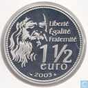 "France 1½ euro 2003 (BE) ""500e Anniversaire de Mona Lisa"""