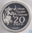 "France 20 euro 2003 (PROOF) ""500th anniversary of the Mona Lisa"""