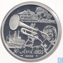 "France 1½ euro 2003 (PROOF) ""Sale of the state of Louisiana to the United States"""