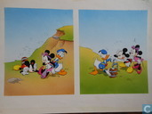 Donald Duck und Mickey Mouse-original