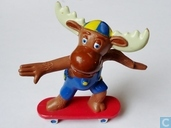 Moose on skateboard