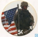 AAFES 5c 2003 Military Picture Pog Gift Certificate 3C51