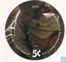 AAFES 5c 2003 Military Picture Pog Gift Certificate 3D51