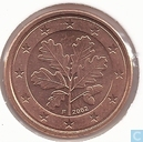Coins - Germany - Germany 1 cent 2002 (F)