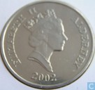 "Alderney 5 Pound 2002 (PROOF) ""Queen Elizabeth II - 50 Years of Reigh"""