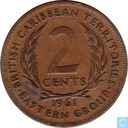 British Caribbean Territories 2 cents 1961