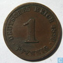 Empire allemand 1 pfennig 1890 (J)