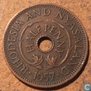 Rhodesia and Nyasaland ½ penny 1957