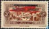 Deir el Qamar, with overprint