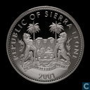 "Sierra Leone 10 dollars 2001 (PROOF) ""Leopard"""