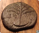 Judea AE coin of Simon Bar Kochba Third Jewish Revolt 134-135 AD