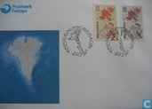 Postage Stamps - Faroe Islands - 1997 Map
