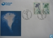Postage Stamps - Faroe Islands - 1996 Map