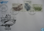 Postage Stamps - Faroe Islands - 1986 Bridges