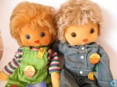 Steiff dolls named Uwe and Gitte - MINT
