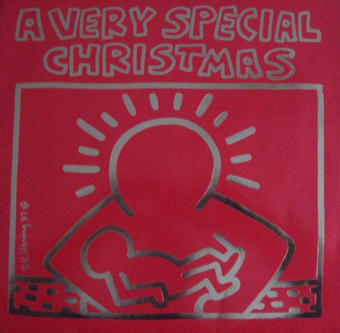 keith haring lp a very special christmas a m records 393 911