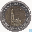 "Allemagne 2 euro 2008 (G) ""St. Michaelis Church Hambourg"""