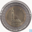 "Allemagne 2 euro 2008 (F) ""St. Michaelis Church Hambourg"""