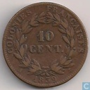 French Colonies 10 centimes 1839