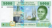 Central African States 5000 Francs 2002