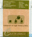Tea bags and Tea labels - La Barraca - Cola de Caballo