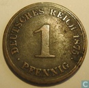 German Empire 1 pfennig 1875 (A)