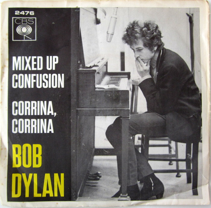 "Bob Dylan - 7"" Single Mixed Up Confusion / Corrina, Corrina (CBS 2476) - Dutch press 1966, mono"