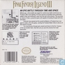 Jeux vidéos - Nintendo Game Boy - Final Fantasy Legend III