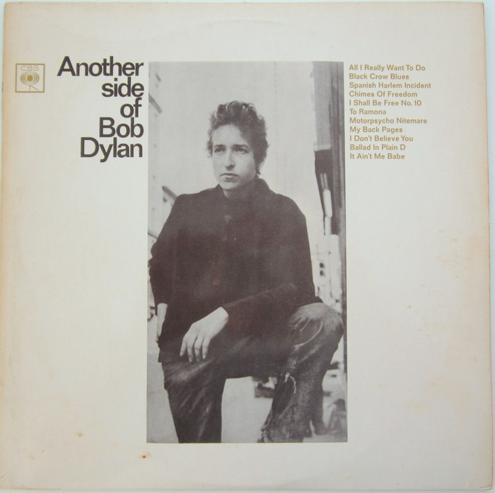 Bob Dylan - LP Another side of Bob Dylan CBS BPG 62429 (UK, 1964, mono)