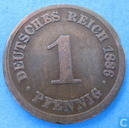 German Empire 1 pfennig 1886 (D)