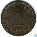 German Empire 1 pfennig 1876 (F)