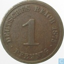 German Empire 1 pfennig 1875 (J)