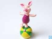 Piglet on ball