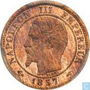 France 1 centime 1857 (A)
