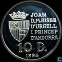 "Andorre 10 diners 1994 (PROOF) ""Discovery of the new world"""