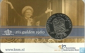 "Pays Bas 2½ gulden 1980 (coincard) ""Double-tête"""