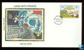 Historical ties with France Silk FDC