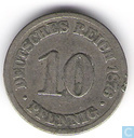 German Empire 10 pfennig 1876 (B)