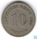 German Empire 10 pfennig 1888 (A)