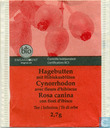 Tea bags and Tea labels - Migros - Switzerland - Hagebutten mit Hibiskusblüten