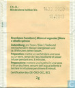 Tea bags and Tea labels - Migros - Switzerland - Brombeere Sanddorn