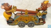 Tin Plate Wind Up Gus & Jaq Hand Car