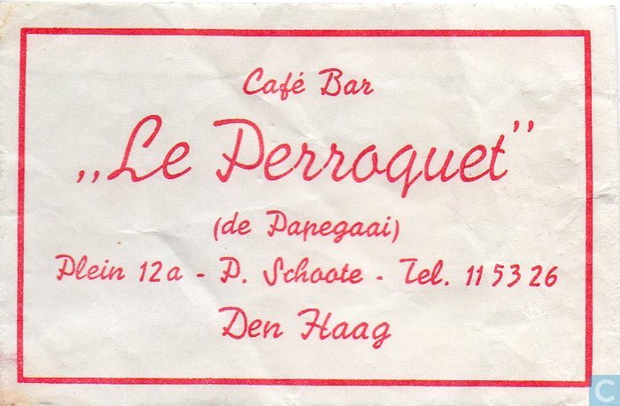 Caf bar le perroquet sachet catawiki - Collectionneur de sucre ...